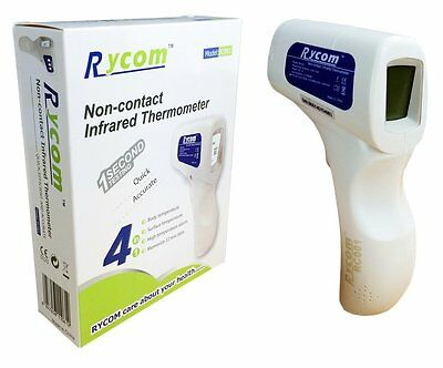 Rycom Portable Infrared Forehead No-contact Non-touch LCD Baby Fever Thermometer