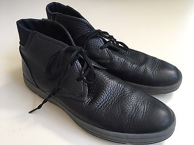 Men's Cole Haan Chukka Lace-up Boot, Black Leather, Size 8