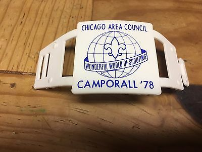 Vintage Boy Scouts Hiking Stick Medallion - Chicago Area Council CAMPORALL 1978