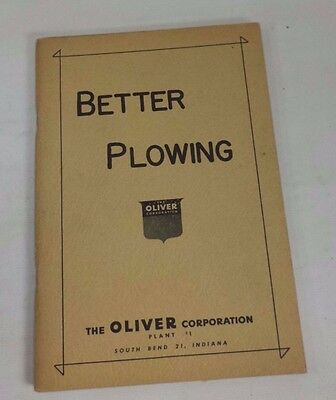 Oliver BETTER PLOWING Tractor Owners Manual Brochure Book South Bend Indiana