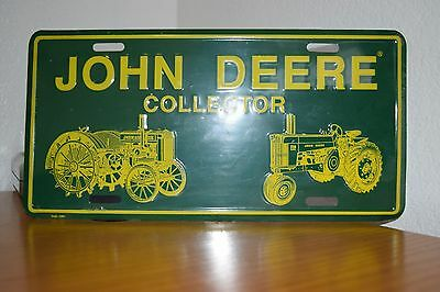 John Deere Collector License Plate Green and Yellow