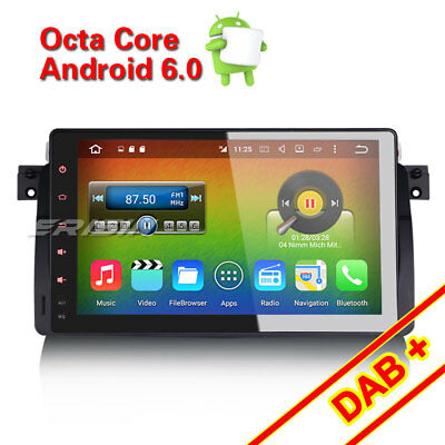 "9"" HD Android 6.0 Car GPS Sat Navi Stereo BMW E46 3er M3 DAB+ 3G Can BUS 6906TA"