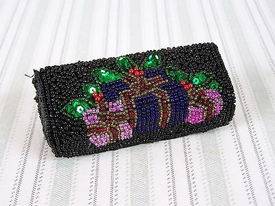 Liz Claiborne Beaded Lipstick Case with Mirror and Snap Closure
