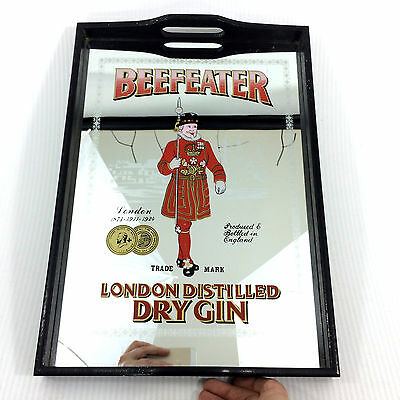 Beefeater Mirror Sign Tray London Distilled Dry Gin Bar Distillery Advertising
