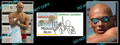 Michael Klim Aussie Olympic Swimming Gold Medallist Signed Cover +2 Photos