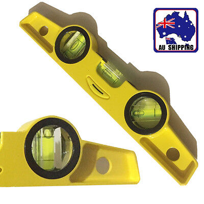 3 Bubble Mini Magnetic Spirit Level Torpedo Gradienter Aluminium TSQU54303