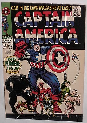 Silver Age CAPTAIN AMERICA #100 First Issue!! KEY!  VG/FN 5.0