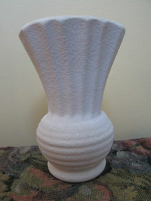 Diana Pottery Vase Slipware Australia 1950s Small White Yellow
