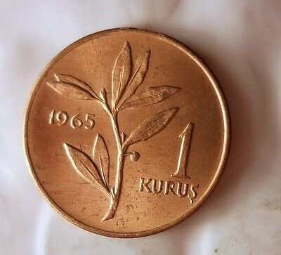1965 TURKEY KURUS - Excellent Coin - MIDDLE EAST BIN #1