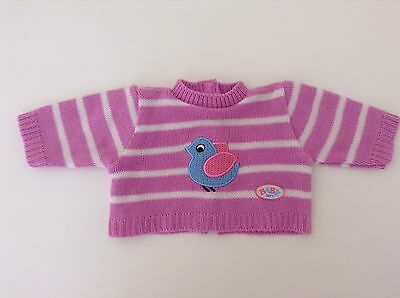 Zapf Creation Baby Born SUPER RARE AND CLASSIC Knitted Jumper- Pink