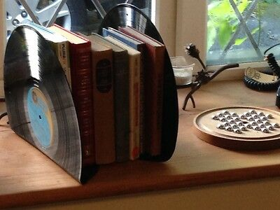 Pair Recycled Lp's bookend