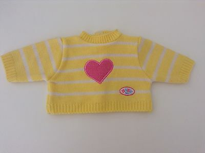 Zapf Creation Baby Born SUPER RARE AND CLASSIC Knitted Jumper- Yellow