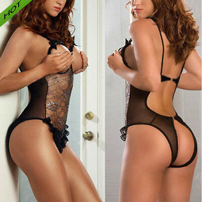 Sexy-Women's Lace Lingerie NightwearG-string Underwear Babydoll Sleepwear Dress