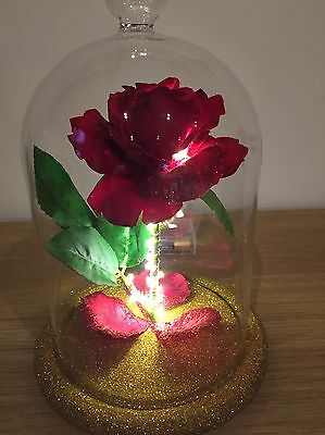 Beauty And The Beast Inspired Enchanted Rose Light LARGE WEDDING MOTHERS DAY