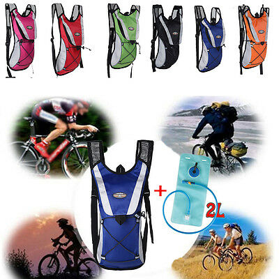 Hydration Backpack Water Bladder Bag Cycling Pack Hiking Camping 2L AU Warehouse