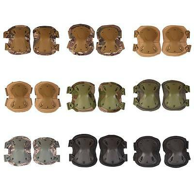 Army Tactical Elbow Knee Protector Combat Pads Wrist Guard Protective Gear Set