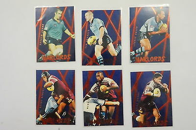 1996 Rugby League Series 2 Warlords set of 6 cards
