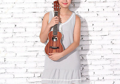 21 inches Wood Color 4 String Beginners Preferred Musical Instrument Ukulele