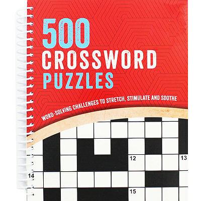 500 Crossword Puzzles (Spiral Bound), Non Fiction Books, Brand New