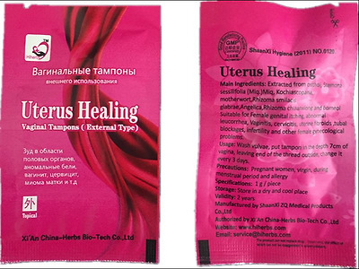 100pieces Uterus Healing Tampon herbal tampons clean point for women