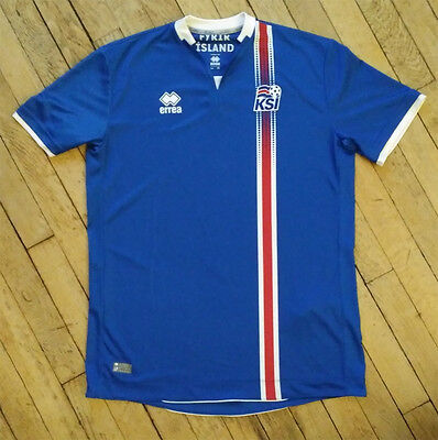 Iceland home jersey. Errea, size XL.