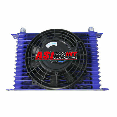 """15ROW 10AN Engine Transmission Oil Cooler + 7"""" Electric Cooling Fan"""