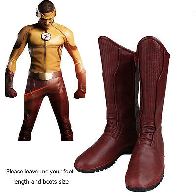 Exotic Costume Wally West Cosplay Halloween Shoes Boots Fancy Dress Men Props