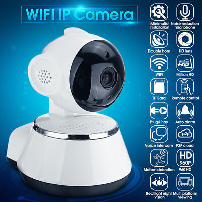 HD 720P Wireless Pan Wifi Tilt CCTV IP Camera Room Security Network Night Vision