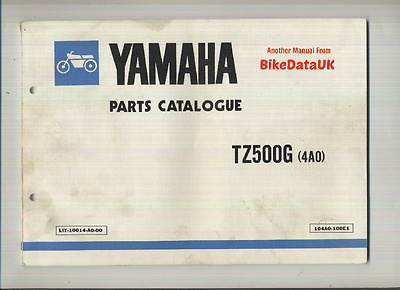 Yamaha TZ500-G (1980) Parts List Catalogue Book Manual TZ 500 4A0 Proddy Racer