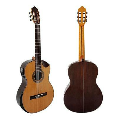 Fashion Vintage Design Cutway Shape Solid Top Electrical Classical Guitar by CN