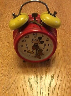 Vintage Mickey Mouse Alarm Clock