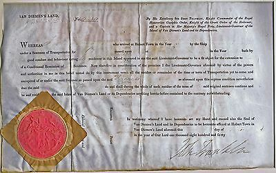 CONVICT Francis Knowles of Van Diemen's Land REMISSION of SENTENCE Document 1840