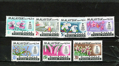 MALAYSIA-Penang 1965 Orchids issue comp , Mtd MINT