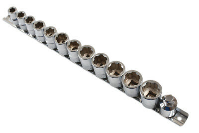 """13 Piece 3/8"""" Sq Dr Socket Set For Damaged/Rounded Nuts From Laser 6834"""