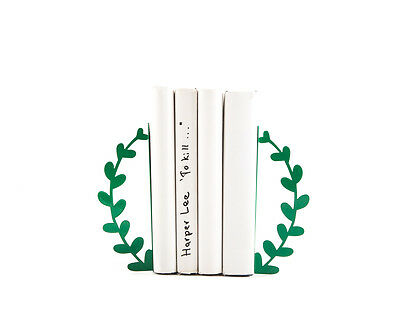Atelier Article - Gift Steel bookends - Wreath (Green)