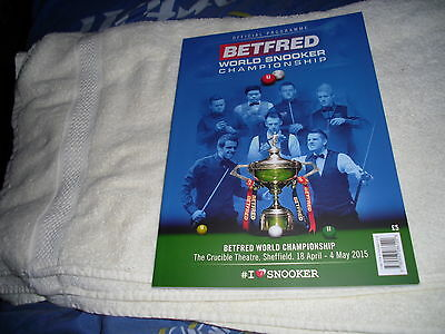 Official Programme Betfred World Snooker Championship 2015