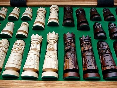 Amazing Hand Carved Wooden Chess Set - Perfect for a Gift