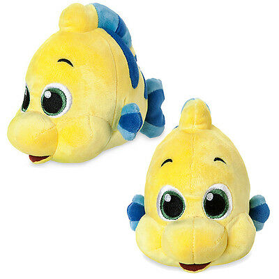 New Official Disney The Little Mermaid Animator 17cm Mini Flounder Soft Plush To