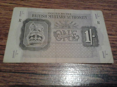 ww2 british military authority one shilling banknote  R