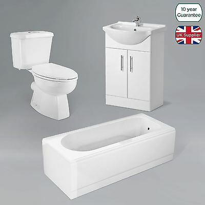 Toilet Modern Pan And Cistern With Bathroom Freestanding Vanity Unit And Bath