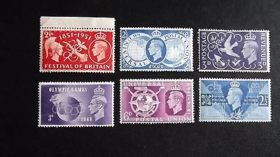 Gb George V1 6 Mint Stamps All Values