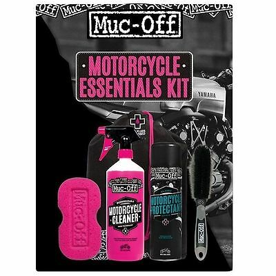 Muc-Off Motorcycle Essentials Kit Cleaning Motorbike 5 Piece Care Kit Gift New