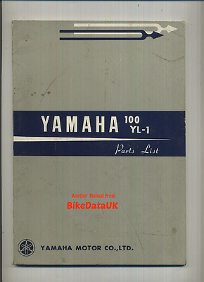 Genuine Yamaha 100 Twin Jet YL1 (1966-1967) Parts List Catalogue Book YL-1 Mk1