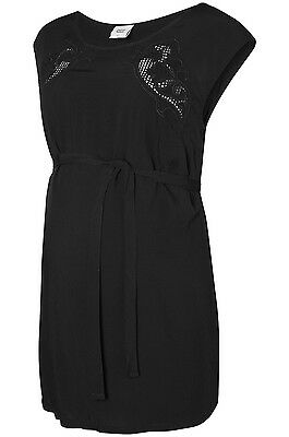 Mamalicious Maternity Short Sleeve Summer Top in Black Sizes 10 - 16