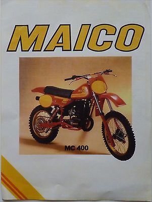 Maico MC400 Sales Brochure / Catalogue / Pamphlet - Undated