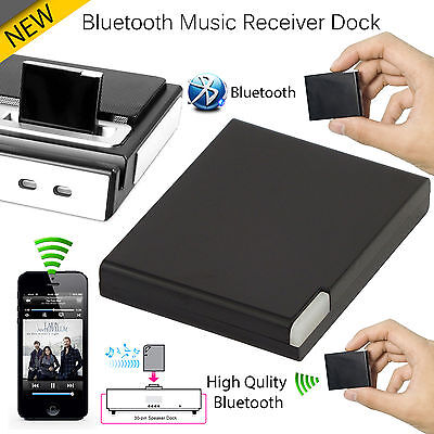 LATEST Bluetooth A2DP Music Receiver Adapter for iPod iPhone 30Pin Dock Speaker