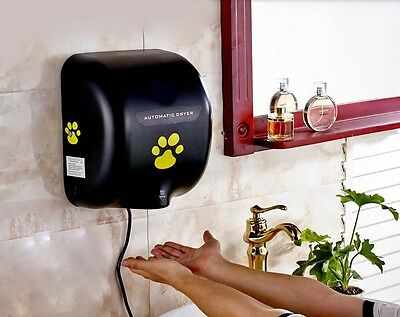 Black Stainless Steel Wall Mounted Automatic Induction Hand Dryer Machine