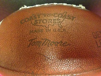Tom Moore Green Bay Packers Vtg Coast to Coast SJ36 Conference Leather Football