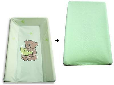 Changing table / Wrap board / Changing mat Phtalanfrei + Terry cloth cover green