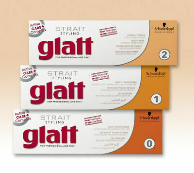 Schwarzkopf Glatt Chemical Hair Straightener - Tube 82ml Neutraliser 2 x 40ml